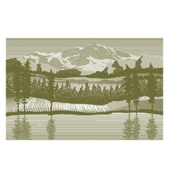 Woodcut Wilderness vector image vector image