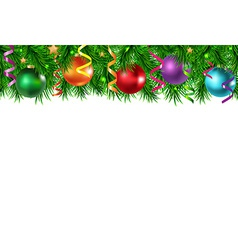 Xmas Border With Golden Stars vector image