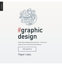 Graphic design block website template vector