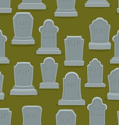Tombstone seamless pattern Old gravestone ornament vector image