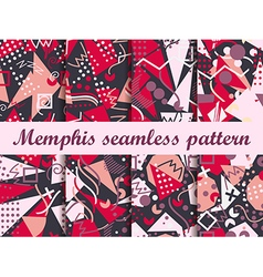 Memphis seamless pattern in the style of 80s vector