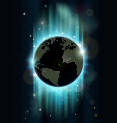 abstract world globe space background vector image
