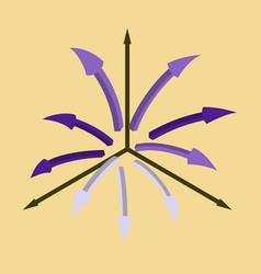 Flat icon on stylish background arrow chart vector