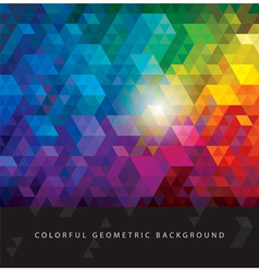 Colorful Geometric Backgrounds vector image