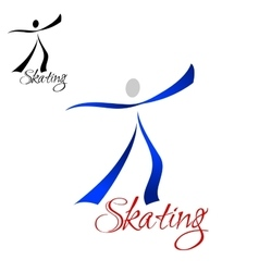 Male dancer skating abstract symbol vector