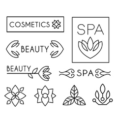 Beauty and care logo templates vector