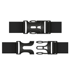 Plastic buckle clasp 03 vector