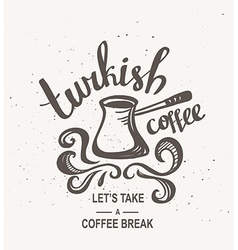 Hipster vintage stylized lettering with turkish vector