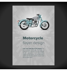 Flayer or placard with motorcycle vector