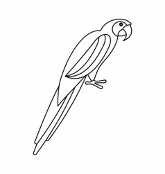 Parrot icon outline style vector image
