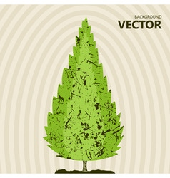 abstract color tree background vector image vector image