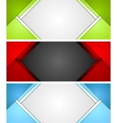 Abstract corporate material banners design vector