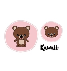 bear character kawaii isolated icon design vector image