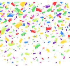 bright colorful abstract festive confetti falling vector image