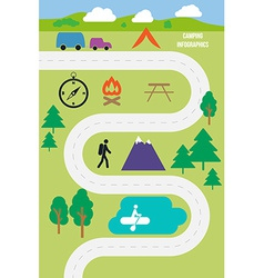 Camping outdoor infographics vector image