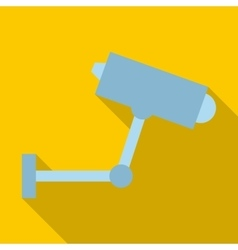 CCTV camera icon flat style vector image