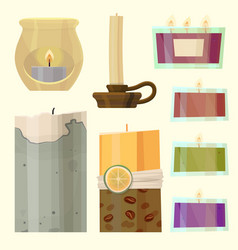 Celebration glowing religion candles birthday vector