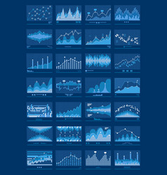 Charts blue mobile background vector