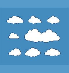 cloud icons vector image