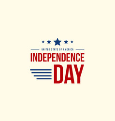 Collection independence day celebration style vector