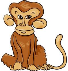 cute monkey cartoon vector image vector image
