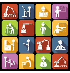 Engineering icons white vector image vector image