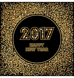 Golden new year background vector