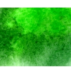 Green watercolor hand drawn stain vector image vector image