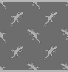 Grey salamander seamless pattern vector
