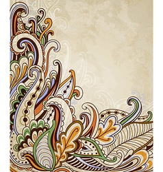 Hand drawn abstract vintage background vector image