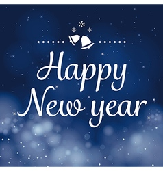 happy new year calligraphy card design vector image vector image