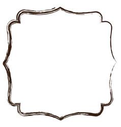 heraldic monochrome silhouette decorative frame vector image vector image