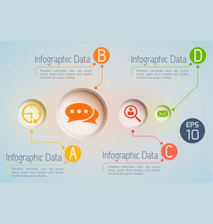infographic communications data background vector image vector image