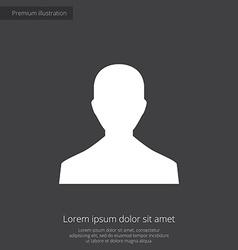 male profile premium icon white on dark background vector image