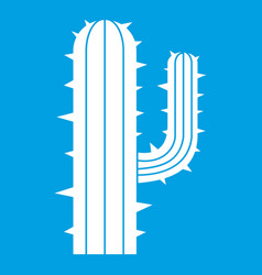 Mexican cactus icon white vector