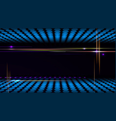 Party background with led display background and vector image vector image