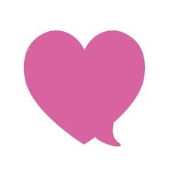 Pink love bubble speech heart valentine vector