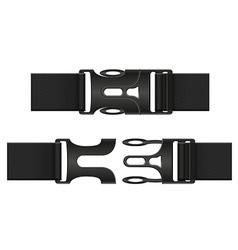 plastic buckle clasp 03 vector image vector image