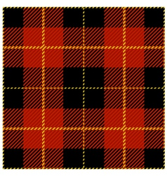 Red seamless tartan plaid design pattern vector