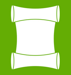 Scroll icon green vector