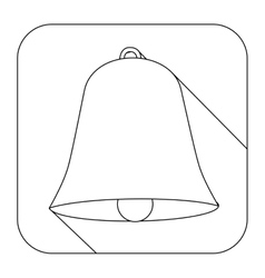 Square shape with silhouette bell vector