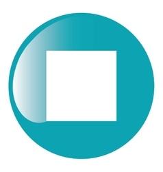 stop button icon vector image