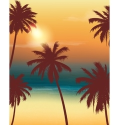 Summer holidays background Exotic landscape with vector image vector image