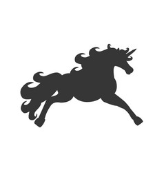 unicorn horse silhouette vector image