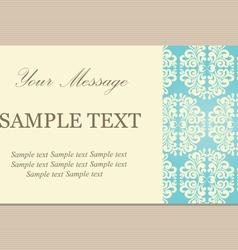 vintage vizit card vector image vector image