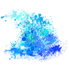 wave from paint splashes vector image vector image