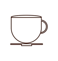 Coffee mug breakfast food menu icon vector