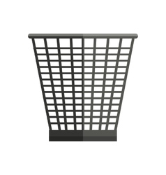Trash basket in flat style vector