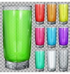 Set of transparent glasses vector