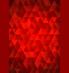 red mosaic background vector image